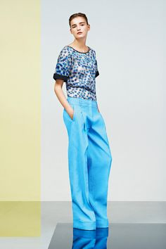 Graphic Prints + Wide Leg Trousers by Jil Sander - Spring 2014  Download the app here: http://bit.ly/PxYQL5