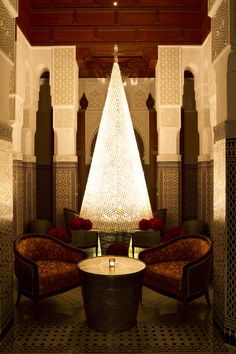 The crystal #Christmas tree is shining in the lobby of #RoyalMansour #Marrakech.