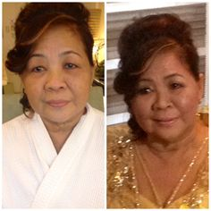 68 year old Mrs. Lyn Santos on her 50th golden wedding anniversary. :)
