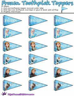Frozen: Toppers y Wrappers para Cupcakes y Etiquetas Gratis. | Ideas y material gratis para fiestas y celebraciones Oh My Fiesta!