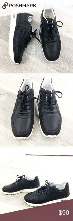 uk availability f2363 5eede Men s Asics sneakers size 9 Size 9 • black leather with cream sole • casual  dressy