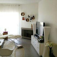 White living room corners
