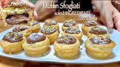 MUFFIN SFOGLIATI con Nutella SOLO 2 INGREDIENTI velocissimi! - YouTube Nutella, Muffins, Sweet Treats, Cheesecake, Sweets, Candy, Hobby, Breakfast, Food