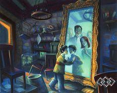 Mary GrandPre - Harry Potter - Mirror of Erised - world-wide-art.com