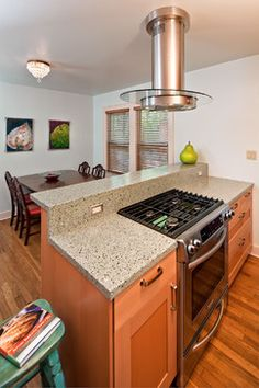 stove in island granite countertops They say home is where the