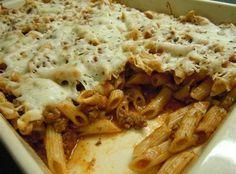 Italian pasta with cheese recipes Cheesy Pasta Recipes, Cheesy Pasta Bake, Cheese Recipes, Cookbook Recipes, Cooking Recipes, Healthy Recipes, Baked Penne, Italian Pasta, Greek Recipes