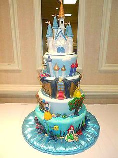 Cake Cute Cakes Fancy Disney Themed Theme Bellisima