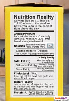 Finally, a reasonable nutrition label!