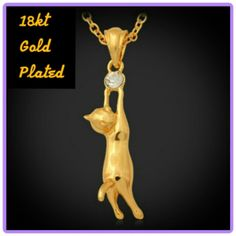 Spotted while shopping on Poshmark: 🆕  18kt GOLD PLT CAT NECKLACE! #poshmark #fashion #shopping #style #**MOTHERS DAY GIFT** #Jewelry