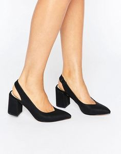 Buy London Rebel Slingback Mid Heel Shoes at ASOS. Get the latest trends with ASOS now. Kitten Heel Shoes, Mid Heel Shoes, Slingback Shoes, Peep Toe Pumps, Shoes Heels, Hot Shoes, Flats, Shoes Ads, Cinderella Shoes