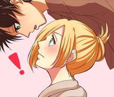 Look Up   Eren Jaeger / Jäger / Yeager x Annie Leonhardt / Leonhart   EreAnnie / ErenAnnie / EreAnni / Erennie / Erenni   Titan Shifters   Attack on Titan / Shingeki no Kyojin AoT / SnK   Anime manga couple fanart   OTP