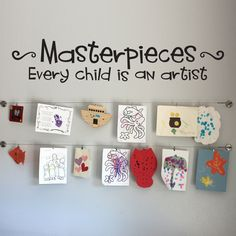 Masterpieces Wall Decal - Every Child is an Artist - Children Artwork Display Decal - Large