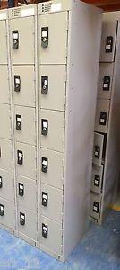 2-x-Used-Link-6-Door-Metal-Locker-Slimline-6-Door-Lockers-12-Doors-With-Keys