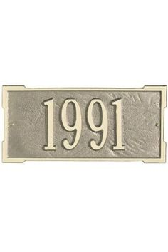 hanging address plaques - http://www.mobilehomereplacementsupplies.com/mobilehomeaddressmarkers.php