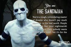 I took Zimbio's 'Sleepy Hollow' quiz and I'm The Sandman! Who are you?…