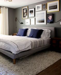 Trendy Bedroom Wall Decor Above Bed Diy Gray 21 Ideas Romantic Master Bedroom, Small Master Bedroom, Gray Bedroom, Master Bedroom Design, Trendy Bedroom, Masculine Master Bedroom, Quirky Bedroom, Neutral Bedrooms, White Bedrooms