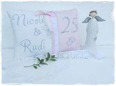 Weiteres - Kissen Hochzeit, Silberhochzeit, Goldenen Hochzeit - ein Designerstück von Gemuetlichkeiten bei DaWanda