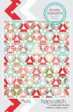 "Hopscotch quilt pattern by Thimble Blossoms - 60"" x 70"" - jelly roll pattern. $7.50, via Etsy."