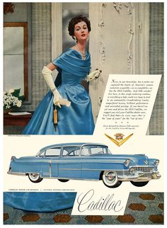 1940s #forties #ads #Cadillac #cars #dresses #fashion