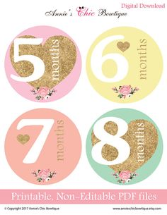 Printable monthly stickers baby monthly stickers DIY monthly. Our HIGH QUALITY stickers are the BEST way to capture your child's first year. Use our printable stickers for a memorable photo session or add them to your scrapbook. They also make a perfect gift for a mom to be.