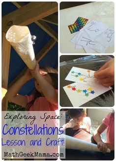 Easy lesson on stars and constellations (with free printable) and a SUPER easy craft for kids!