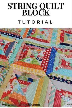 String Quilt Blocks--A Tutorial | A Quilting Life - a quilt blog