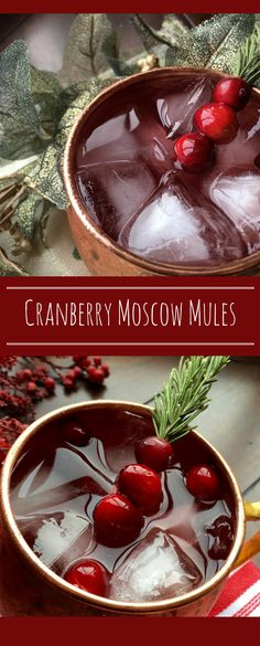 How To Make A Cranberry Moscow Mule Cocktail Drink