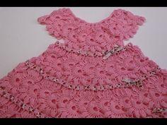 Vestido para Niña Tejido Crochet parte 1 de 2 - YouTube