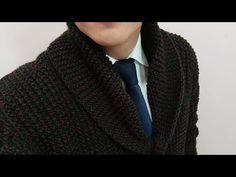 Como hacer cuello smoking o buzo Fácil y Rápido /2 parte chaleco Caballero - YouTube Crochet Coat, Men Sweater, Lana, Fashion, Hand Weaving, How To Knit, Moda, La Mode