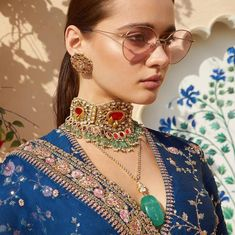 indian designer wear Sabyasachi Spring Summer 2019 collection just launched yesterday, and I have every single picture in this post for you. Lots of lehengas, sarees & more. Bridal Necklace, Wedding Jewelry, Choker Necklaces, Necklace Set, Pearl Necklace, Chokers, Earrings, Lehenga Choli, Anarkali