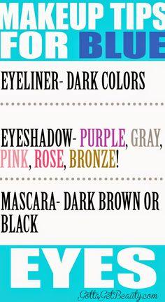 Makeup tips for BLUE eyes! http://GottaGetBeauty.com