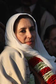Benazir Bhutto. 11th Prime Minister of Pakistan. Human rights activist. Assassinated 27 December 2007.
