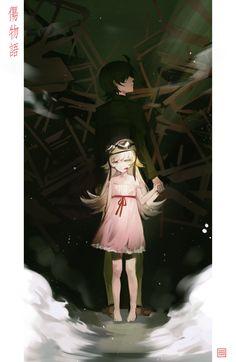 Araragi Koyomi / Shinobu Oshino【Bakemonogatari】