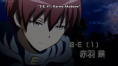Congratulations to our class devil, Akabane Karma, for being no. 1! - DA | Assassination Classroom