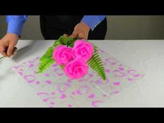 FREE VIDEO TUTORIAL ~ How to Wrap a Bouquet of Nylon Flowers (+playlist)