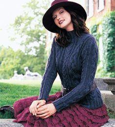 (6) Name: 'Knitting : Cabled Turtleneck [VKH06_10]