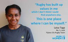 #WorldRugby Gran treball @UN_Women i de Fijiana, ajudant a promoure la igualtat de gènere en l'esport