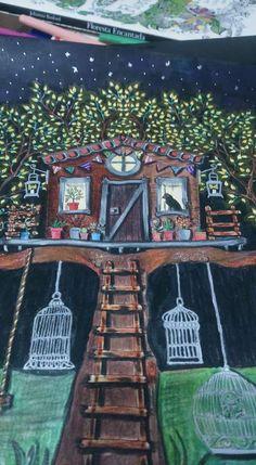 Treehouse Secret Garden. Casa da Árvore Jardim Secreto. Johanna Basford