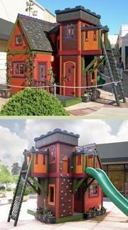 Wizard playhouse plans by Barbara Butler OMG. I want one. I will make it into a secret reading nook. mwahha!