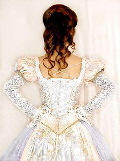 Back of the Cinderella gown. Fashion;formal;wedding;prom;costume;unique;fantasy