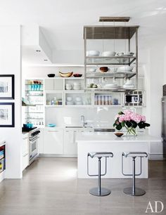 Kitchen of Julianna Margulies's Serene New York Apartment- beautiful, simple, clean