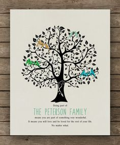 Personalized Family tree Christmas Gift by WordsWorkPrints on Etsy, $20.00