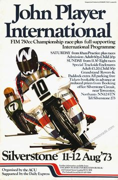 Classic John Player Norton Poster by classicmotorads on Etsy Vintage Bikes, Vintage Motorcycles, Vintage Cars, Norton Motorcycle, Motorcycle Posters, Bike Poster, Classic Bikes, Classic Cars, Racing Motorcycles