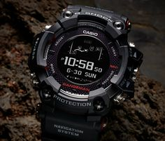 Casio´s new G-Shock is a Solar-Powered GPS Watch! The G-Shock Rangeman features the world's first solar-assisted GPS navigation. The GPS can provide 33 hours of navigation on just one charge, but if the battery dies, 4 hours of direct sunlight will r