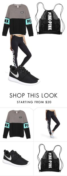 """""""Work Out Gear"""" by graciexluv on Polyvore featuring adidas Originals, NIKE, women's clothing, women's fashion, women, female, woman, misses and juniors"""