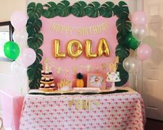 Lola's Copacabana 1st Birthday Party - Oh Happy Play- first birthday- fun to be one- havana nights- fruitti tuitti, first birthday, party theme, flamingo party, her name was lola, one, baby girl party, pink and gold birthday