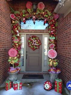 Christmas deco mesh garland and wreath. Created by: Brittani Kelley. How stinking cute is this? Whimsical Christmas, Christmas Porch, Christmas Wreaths, Classy Christmas, Country Christmas, Outdoor Christmas Garland, Christmas Topiary, Christmas Crafts, Whoville Christmas