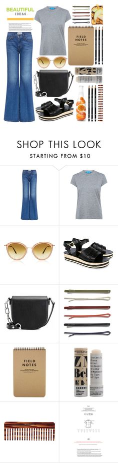 """""""Untitled #546"""" by mlka ❤ liked on Polyvore featuring Current/Elliott, M.i.h Jeans, Oliver Peoples, Ancient Greek Sandals, Alexander Wang, Madewell, Korres and Mason Pearson"""