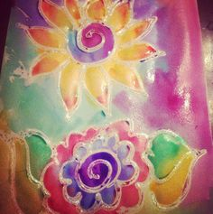 Art journal blings created using three dimensional paint and twinkling h2o's. :)