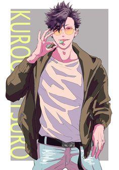 Haikyuu Nekoma, Kuroo Tetsurou, Haikyuu Fanart, Haikyuu Anime, Manga Drawing, Manga Art, Manga Anime, Haikyuu Characters, Anime Characters